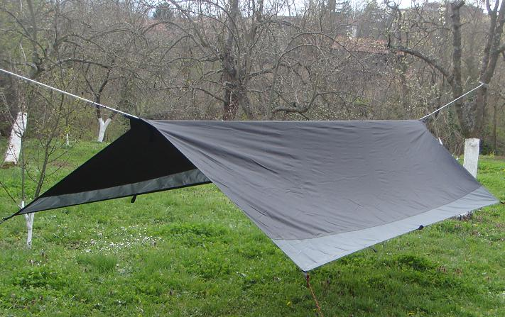 Black & Grey tarpaulin 3.6 x 1.8m