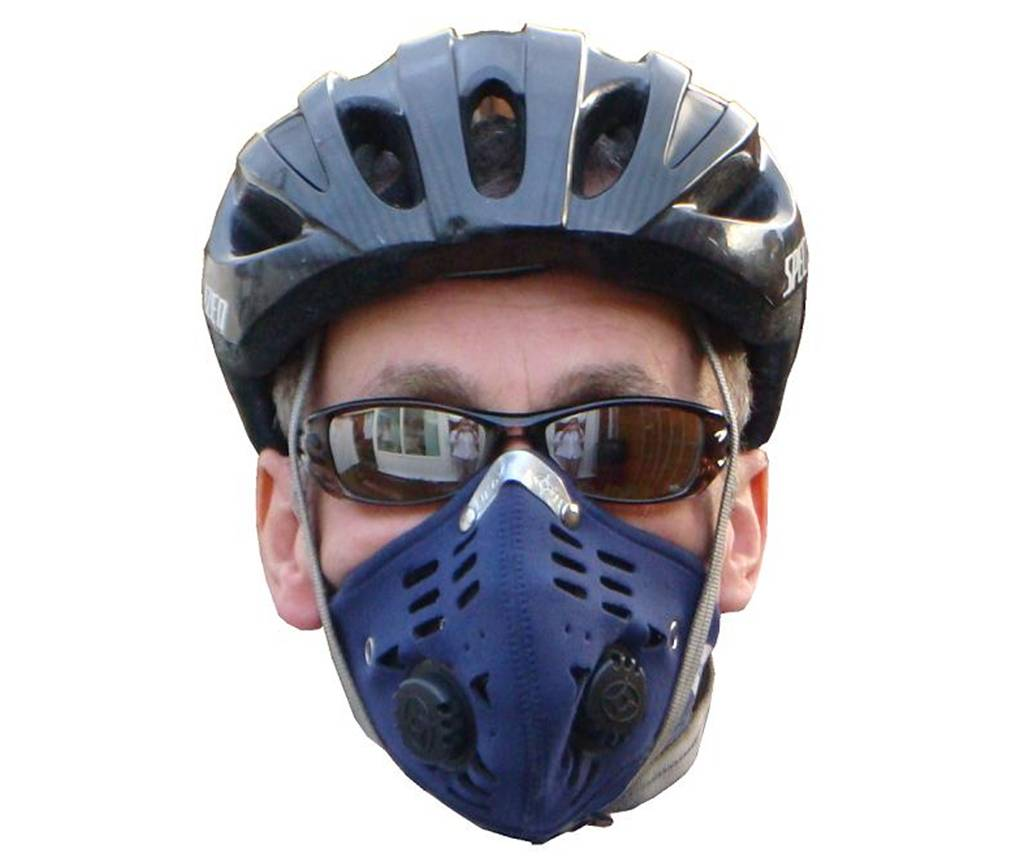 2 x Blue Anti-pollution Mask Valve Type